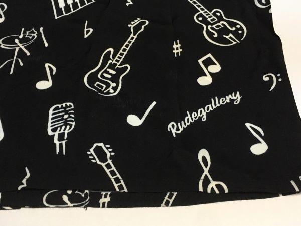 RUDE GALLERY 19S/S 「ONPU SHIRT」 ブラック サイズ2 レーヨン100% アロハシャツ 開襟 ルードギャラリー_画像7