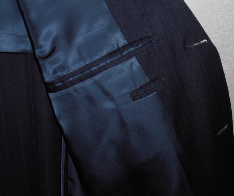 美品 ラルフローレン ポロ POLO ビジネススーツ上下 ストライプネイビー Lサイズ 定価12万円 クリーニング済_画像5
