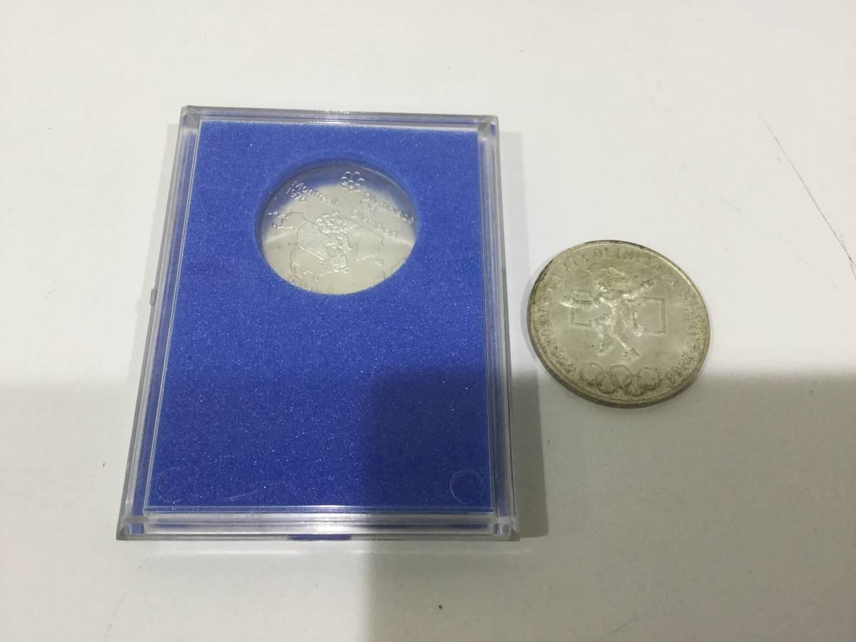 外国銭 モントリオール オリンピック 1976年 5ドル 記念 銀貨 5Dollars & メキシコ オリンピック 1968年 25ペソ 銀貨 記念 硬貨 コイン_画像3
