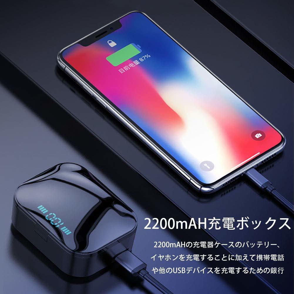 【激安価格】Bluetooth5.0 ワイヤレス イヤホン IPX7完全防水 LED電量表示 30M Bluetooth接続距離 電池残量インジケーター付き_画像5
