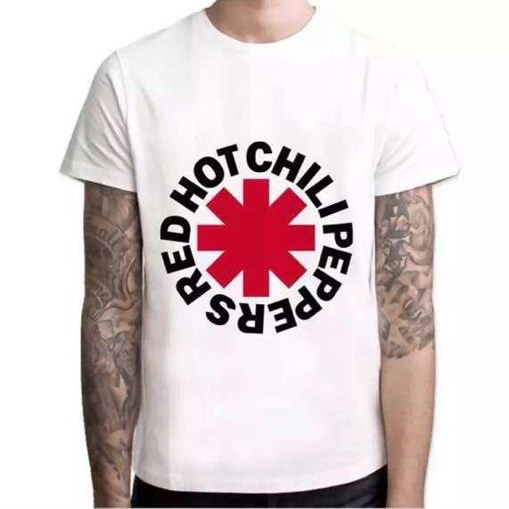 RED HOT CHILLI PEPPERS バンドtシャツ レッドホットチリペッパーズ レッチリ RHCP 半袖Tシャツ_画像1
