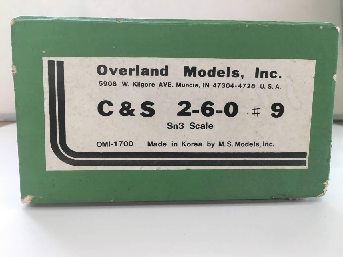 C & S 2-6-0 #9 Sn3 Scale OMI-1700 外国車両