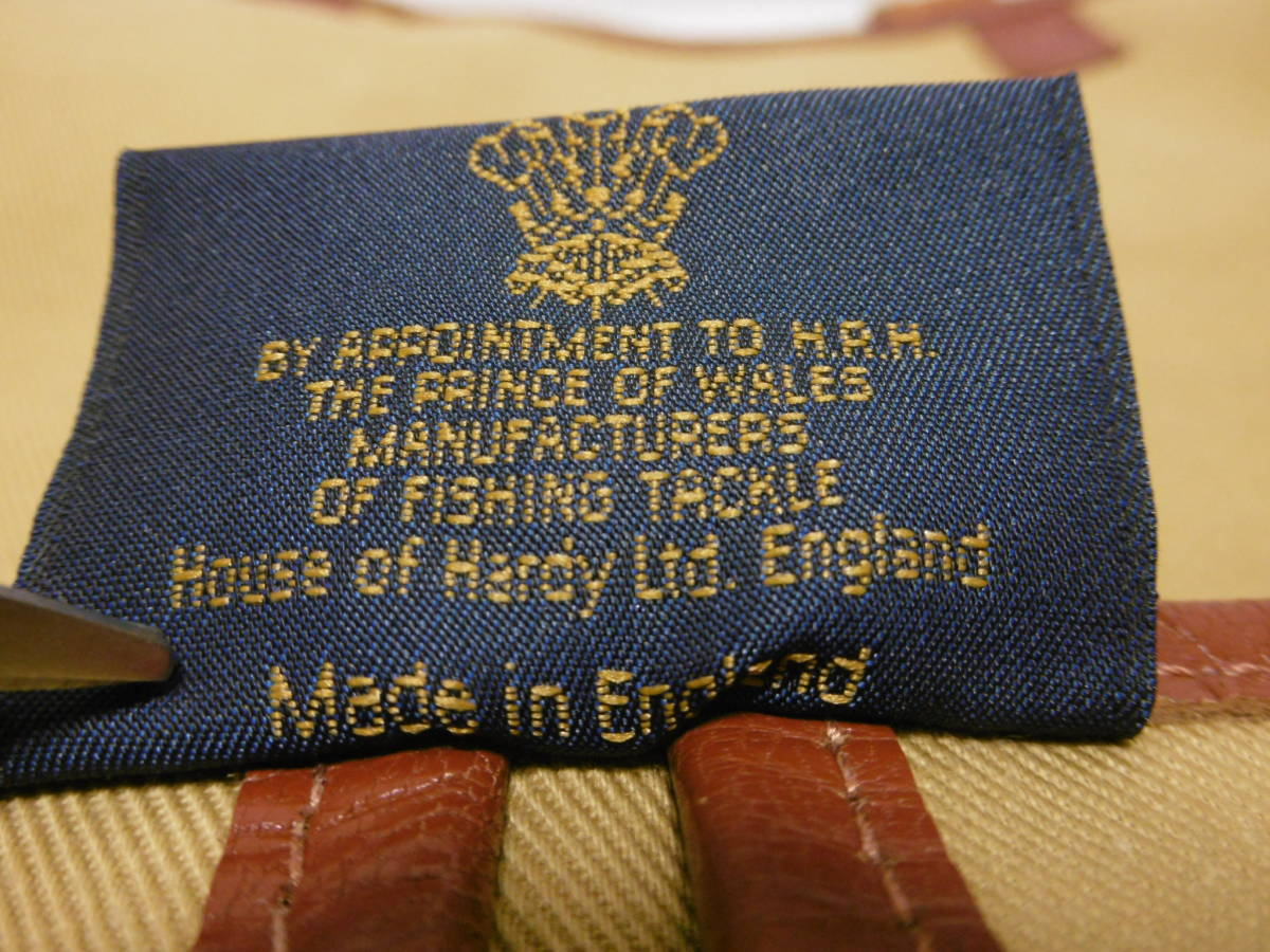 HOUSE OF HARDY ハウスオブハーディー フィッシングバッグ コットンツイル×レザーショルダーバッグ ビンテージ ENGLAND製_画像8