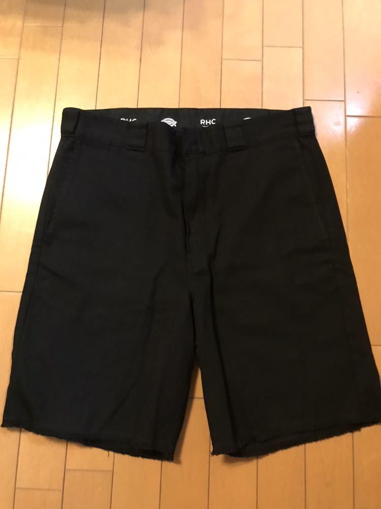 【美品】RHC ロンハーマン ディッキーズ 別注 ショーツ 36 ブラック 黒 ショートパンツ_画像2