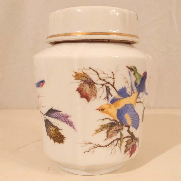 メルローズ スコットランド 茶葉入れ 茶筒 陶器 容器 小物入れ キャニスター エディンバラ MELROSES_画像3
