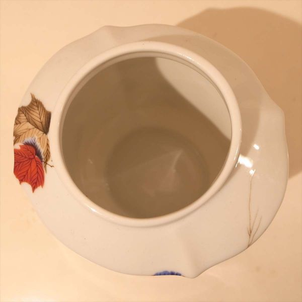 メルローズ スコットランド 茶葉入れ 茶筒 陶器 容器 小物入れ キャニスター エディンバラ MELROSES_画像7