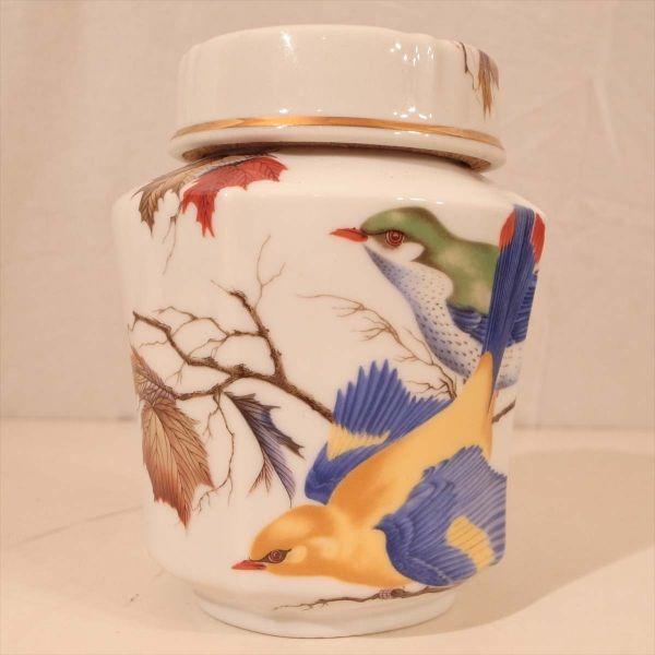 メルローズ スコットランド 茶葉入れ 茶筒 陶器 容器 小物入れ キャニスター エディンバラ MELROSES_画像2