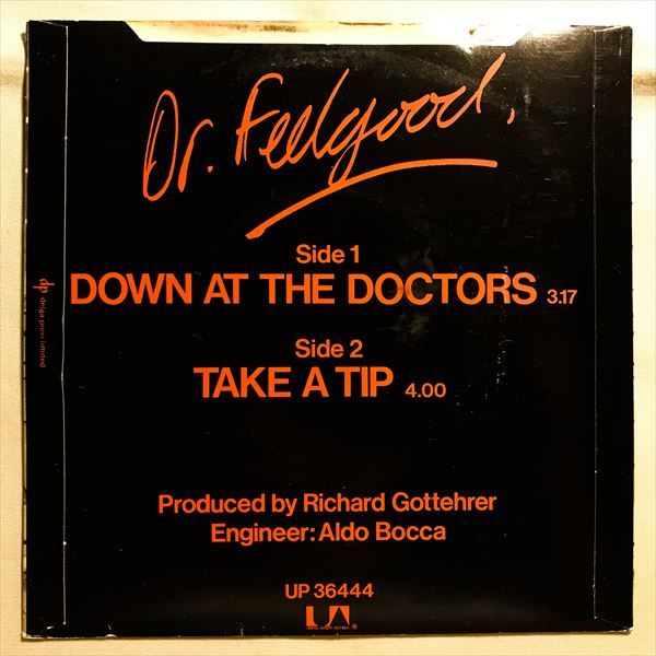 ◆UK ORG◆ DR. FEELGOOD / DOWN AT THE DOCTORS ◆PUB ROCK/パブロック_画像2