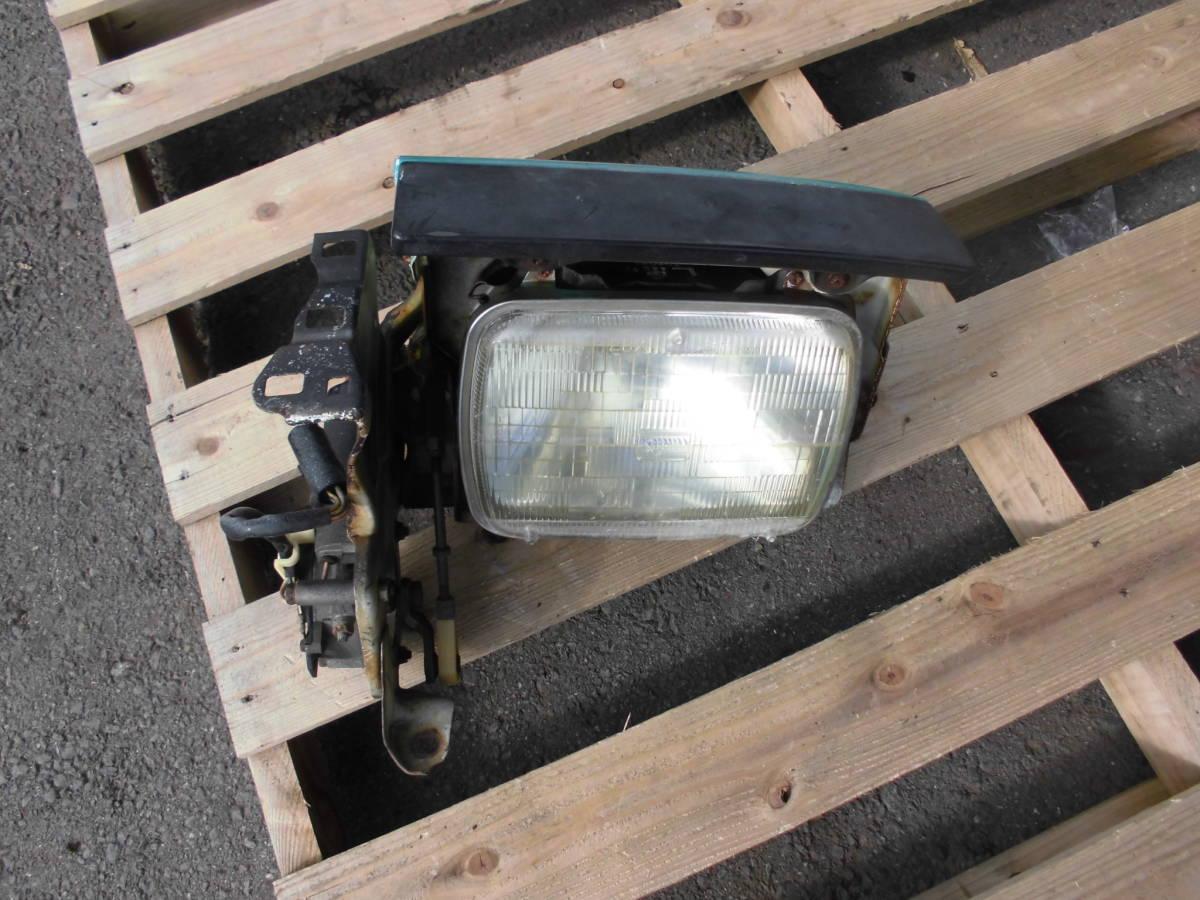 長期保管 AE86 トレノ 前期 L 左側 リトラクタブルヘッドライト 助手席側 前期 リトラボディ ライト付き ライトカバー リトラモーター付き_画像1