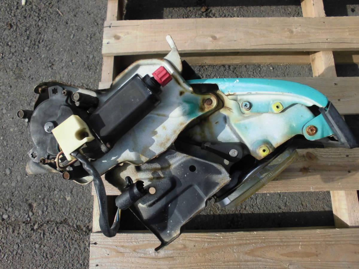 長期保管 AE86 トレノ 前期 L 左側 リトラクタブルヘッドライト 助手席側 前期 リトラボディ ライト付き ライトカバー リトラモーター付き_画像3