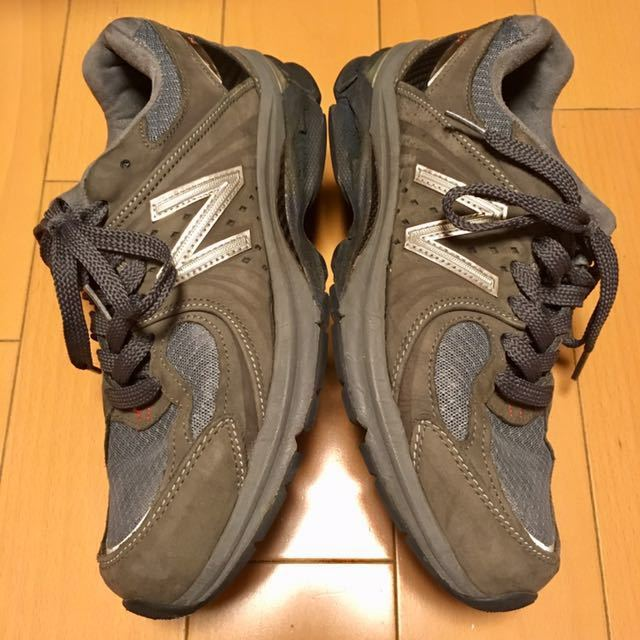 NEW BALANCE M2040GL1 US 7 1/2 D 25.5 Made In USA USA製 ヌバック ニューバランス スニーカー 廃盤 グレー アメリカ製 レア 最上級_画像5