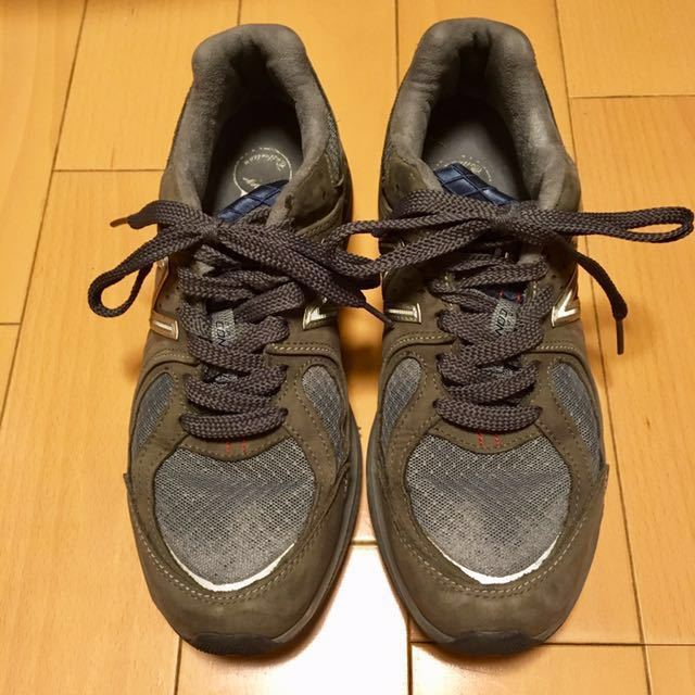 NEW BALANCE M2040GL1 US 7 1/2 D 25.5 Made In USA USA製 ヌバック ニューバランス スニーカー 廃盤 グレー アメリカ製 レア 最上級_画像1