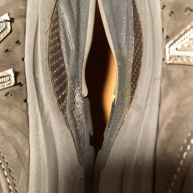 NEW BALANCE M2040GL1 US 7 1/2 D 25.5 Made In USA USA製 ヌバック ニューバランス スニーカー 廃盤 グレー アメリカ製 レア 最上級_画像4
