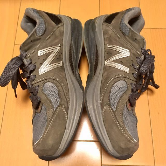 NEW BALANCE M2040GL1 US 7 1/2 D 25.5 Made In USA USA製 ヌバック ニューバランス スニーカー 廃盤 グレー アメリカ製 レア 最上級_画像3