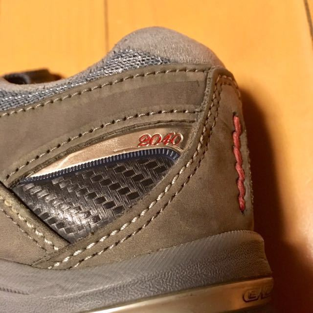 NEW BALANCE M2040GL1 US 7 1/2 D 25.5 Made In USA USA製 ヌバック ニューバランス スニーカー 廃盤 グレー アメリカ製 レア 最上級_画像7