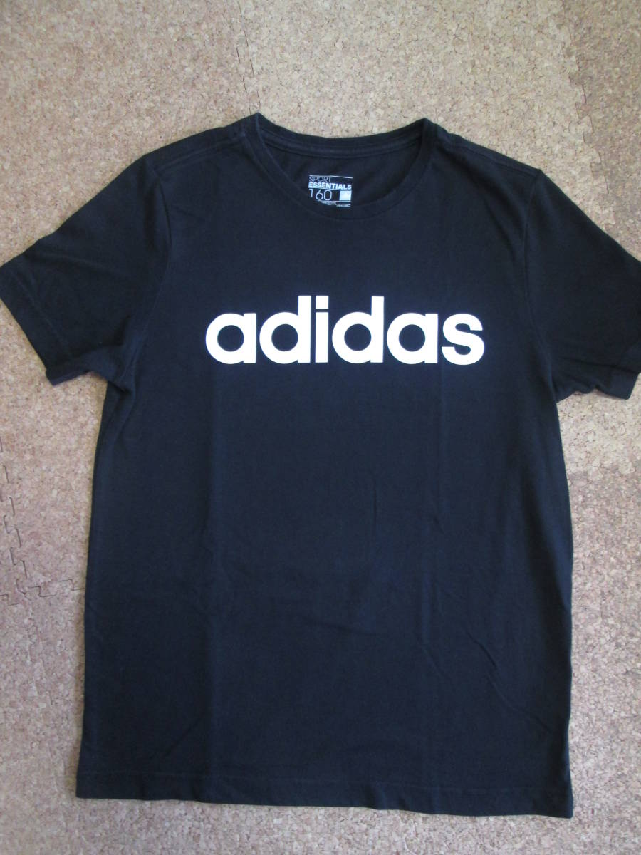 【USED】adidas Tシャツ 160cm 黒