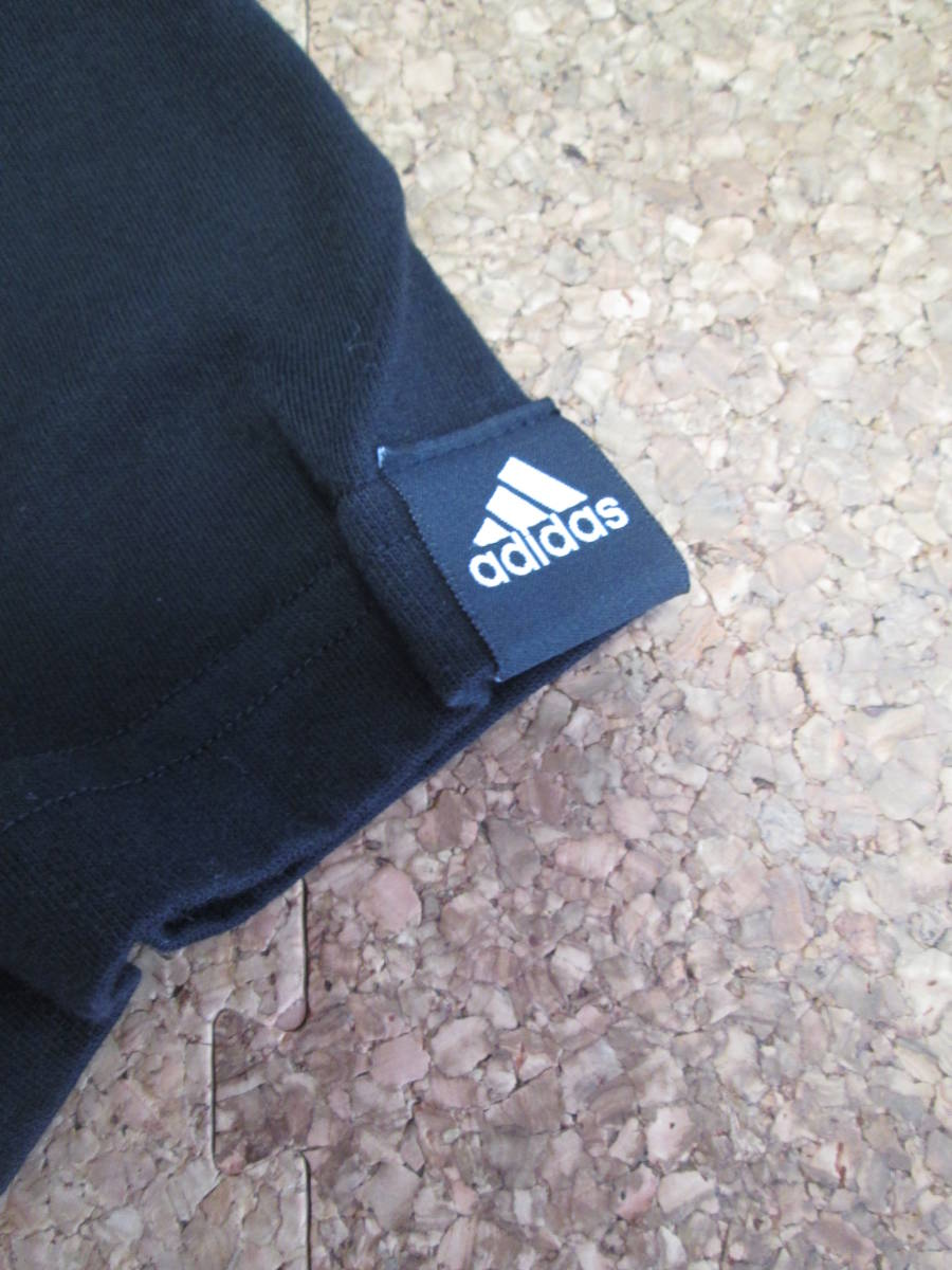 【USED】adidas Tシャツ 160cm 黒_画像4
