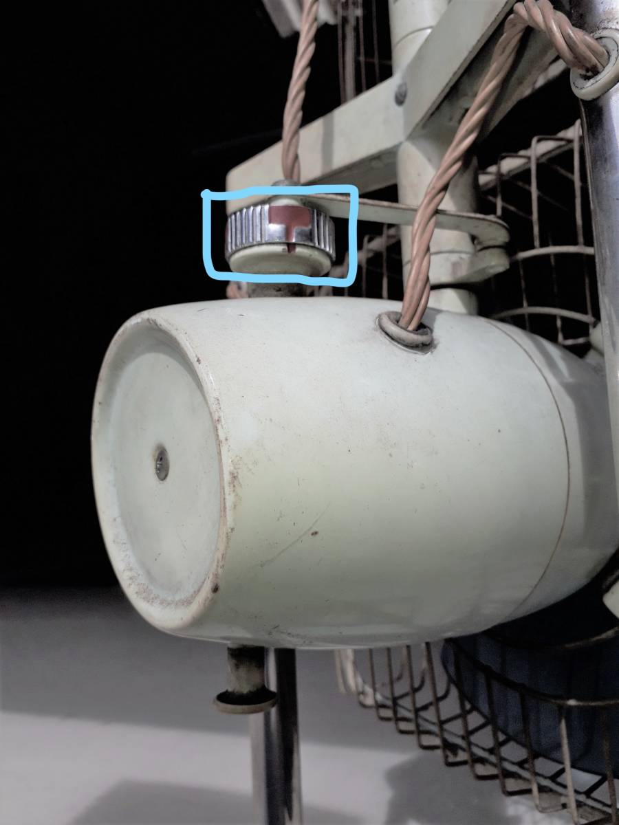 レトロ扇風機 希少 激レア 富士電機 2段式 アンティーク コレクション 中古現状_画像8