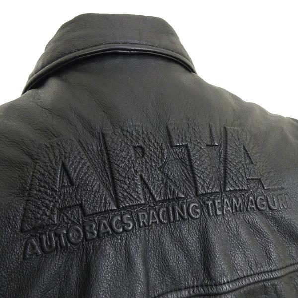 希少 オートバックスx鈴木亜久里 限定 シリアルナンバー(0868) レザーシングルライダースジャケット AUTOBACS ARTA General Manager_画像5