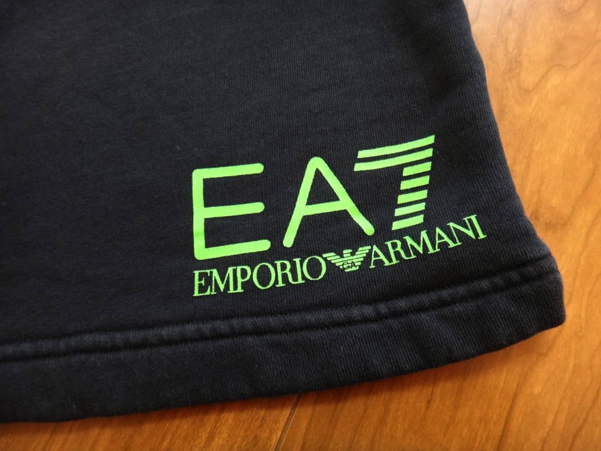 美品1円スタート! エンポリオアルマーニ EMPORIO ARMANI EA7 メンズ ハーフパンツ スウェット ブラック_画像2