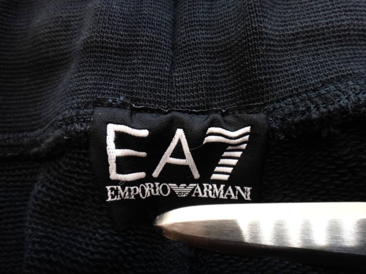 美品1円スタート! エンポリオアルマーニ EMPORIO ARMANI EA7 メンズ ハーフパンツ スウェット ブラック_画像4