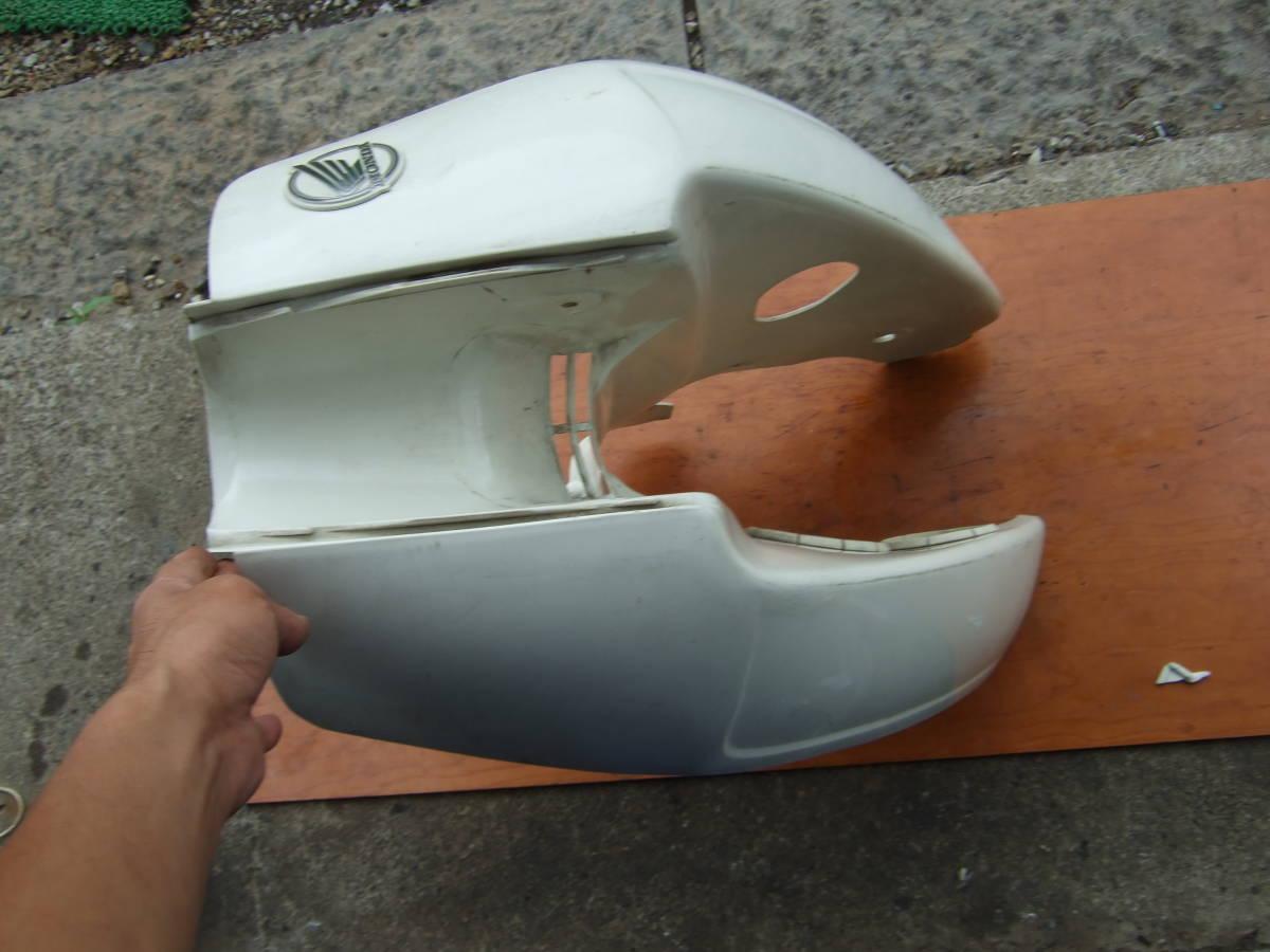 SATU65 カブ50カスタム C50-2115** レッグシールド スーパーカブ50 カスタム セル付カブ 同梱OK_画像8