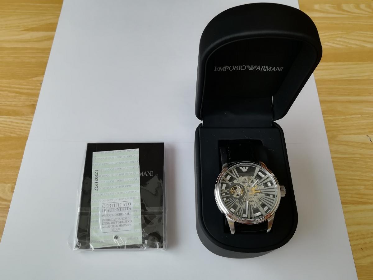【1円~】【未使用】エンポリオアルマーニ(EMPORIO ARMANI) AR4629 腕時計 メンズ ビジネス カジュアル 自動巻き スケルトン 並行輸入_画像3