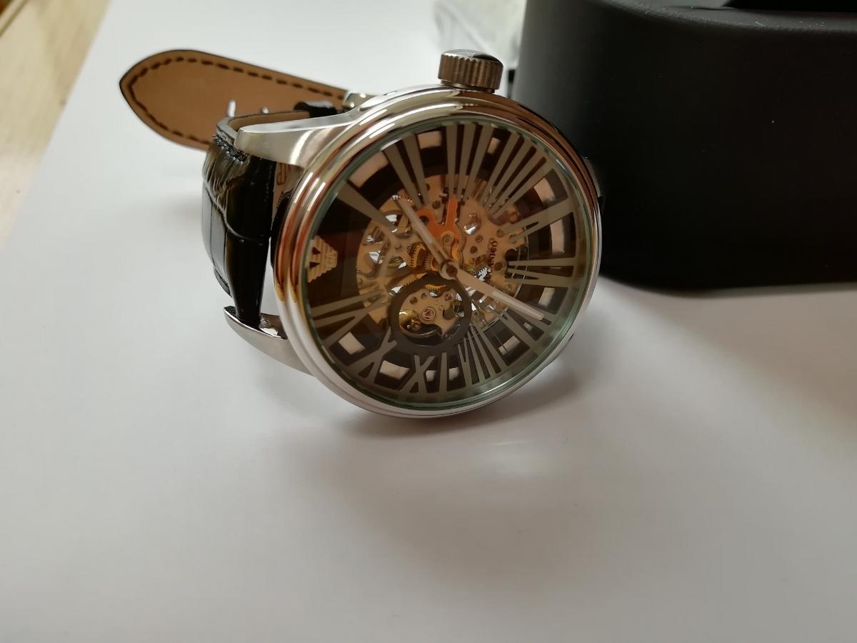 【1円~】【未使用】エンポリオアルマーニ(EMPORIO ARMANI) AR4629 腕時計 メンズ ビジネス カジュアル 自動巻き スケルトン 並行輸入_画像9