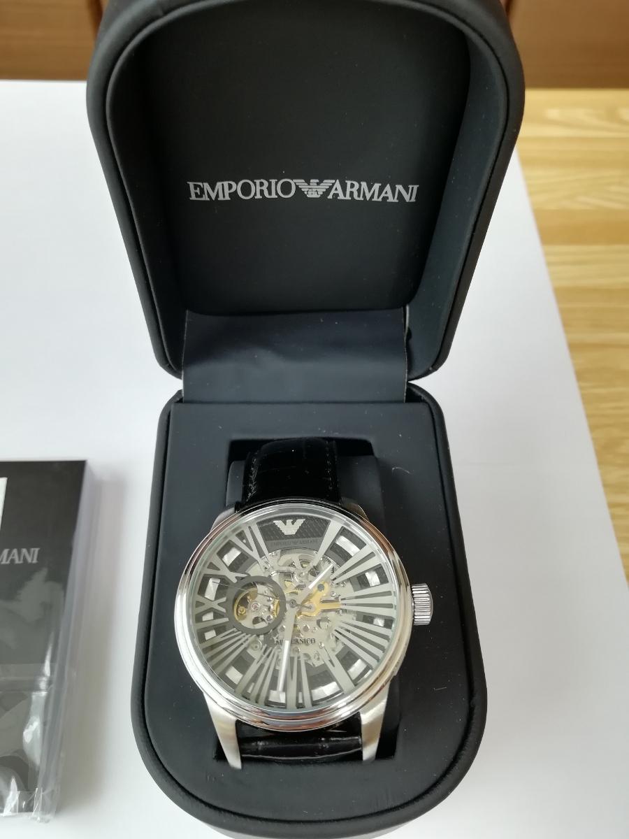 【1円~】【未使用】エンポリオアルマーニ(EMPORIO ARMANI) AR4629 腕時計 メンズ ビジネス カジュアル 自動巻き スケルトン 並行輸入_画像4