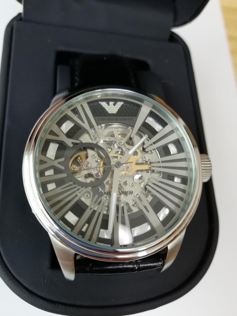 【1円~】【未使用】エンポリオアルマーニ(EMPORIO ARMANI) AR4629 腕時計 メンズ ビジネス カジュアル 自動巻き スケルトン 並行輸入