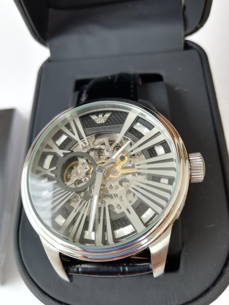 【1円~】【未使用】エンポリオアルマーニ(EMPORIO ARMANI) AR4629 腕時計 メンズ ビジネス カジュアル 自動巻き スケルトン 並行輸入_画像2