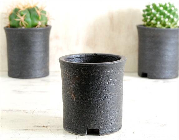 新品 信楽焼 寸胴鉢 3号 陶器鉢 植木鉢 おしゃれ サボテン 塊根植物 コーデックス アガベ 多肉植物に かみ山陶器 invisible ink ig0924_こちらは1鉢あたりのお値段です