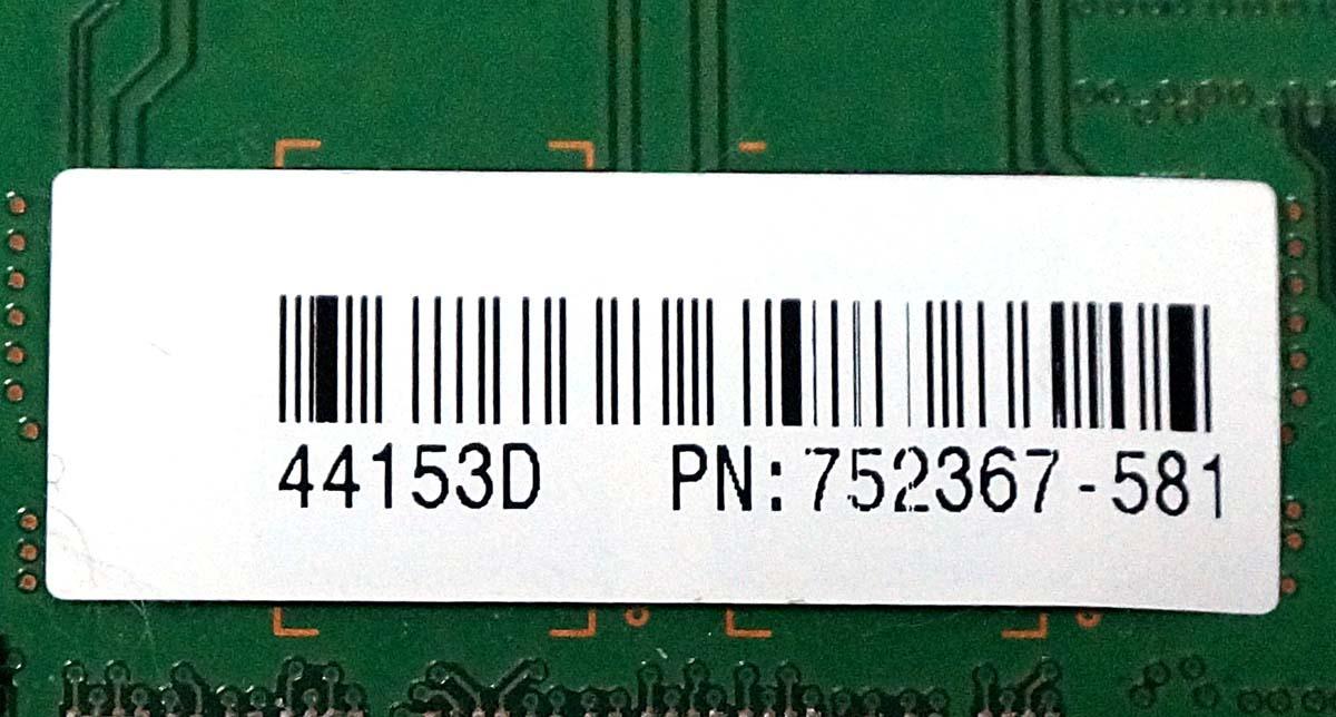 HP純正 Z640 取外品 動作確認済 DDR4 ECC Registered 4GBx4枚 計16GB PC4-2133P 送料185円- HP Z440 Z840 サーバー ワークステーション_画像4