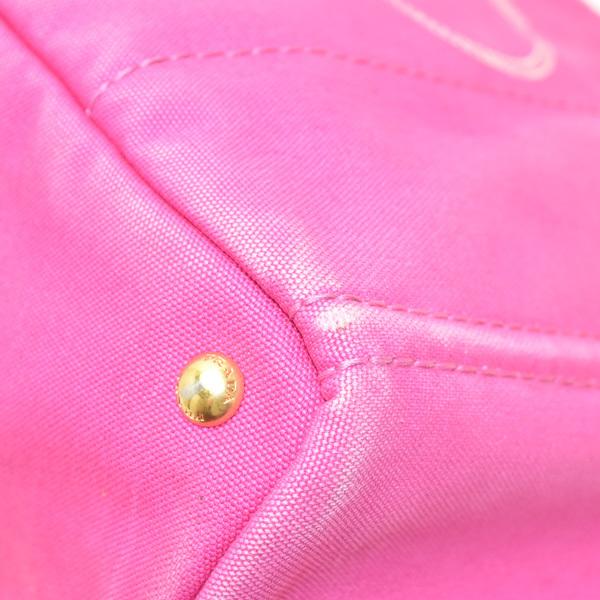 1円◇美品 PRADA プラダ BN1872 カナパ トートバッグ ハンドバッグ かばん キャンバス ピンク◇_画像6