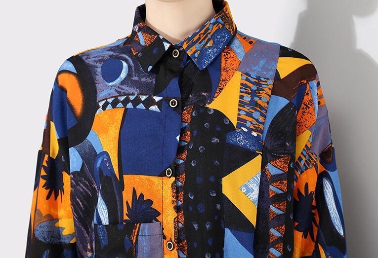 夏新品 上質 ワンピース おしゃれな 不規則裾 長袖 ファッション 花柄プリントン チュール 混色 Fサイズ ドット ゆったり感 ULLK_画像7