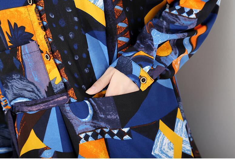 夏新品 上質 ワンピース おしゃれな 不規則裾 長袖 ファッション 花柄プリントン チュール 混色 Fサイズ ドット ゆったり感 ULLK_画像8