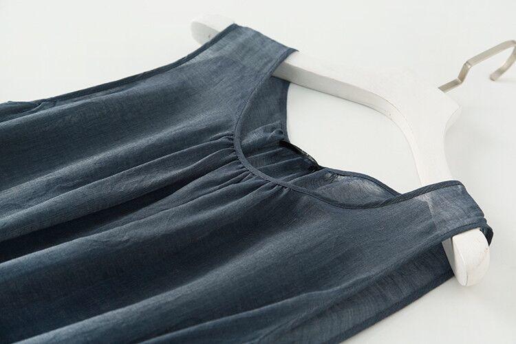 新品登場 糸 シルク 薄い ノースリーブ 着心地のいい ワンピースひざ丈スカートロング スカートスカートZ39**_画像5