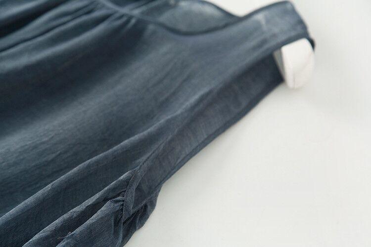 新品登場 糸 シルク 薄い ノースリーブ 着心地のいい ワンピースひざ丈スカートロング スカートスカートZ39**_画像6