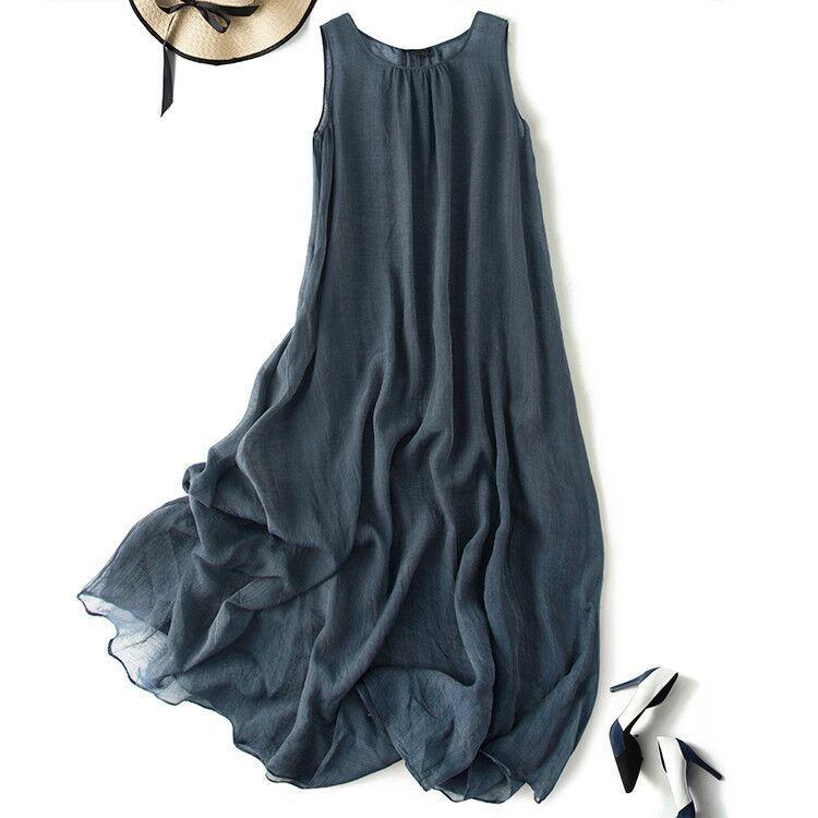 新品登場 糸 シルク 薄い ノースリーブ 着心地のいい ワンピースひざ丈スカートロング スカートスカートZ39**