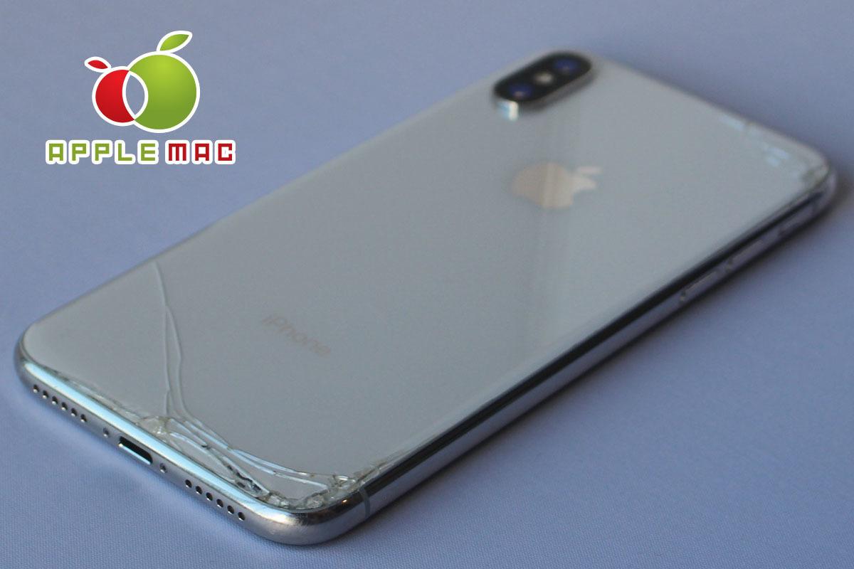 au iPhone X 64GB シルバー 破損あり中古本体(ジャンク・パーツどり端末)_画像6