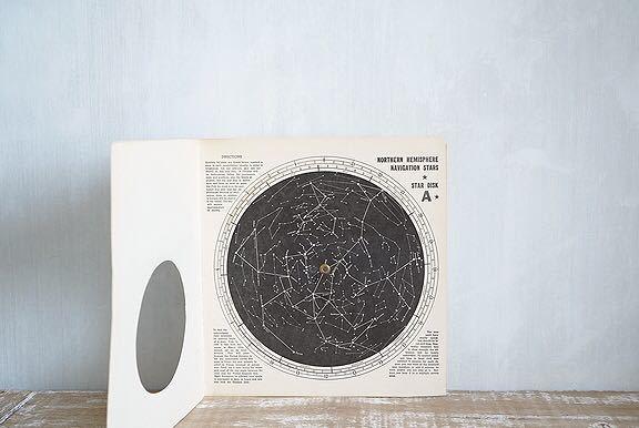 【1957年 古い星座早見盤 天体観測 ビンテージ 紙もの】宇宙 星座 アンティーク ブロカント レトロ 古道具 紙物 オブジェ インテリアに