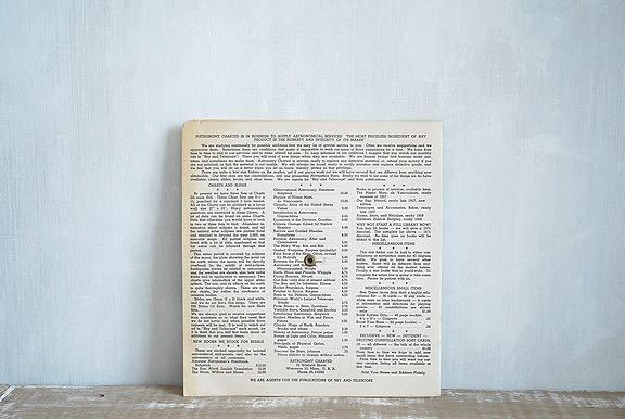 【1957年 古い星座早見盤 天体観測 ビンテージ 紙もの】宇宙 星座 アンティーク ブロカント レトロ 古道具 紙物 オブジェ インテリアに_画像10