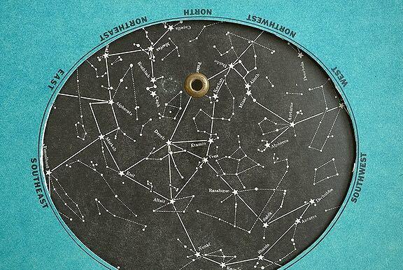 【1957年 古い星座早見盤 天体観測 ビンテージ 紙もの】宇宙 星座 アンティーク ブロカント レトロ 古道具 紙物 オブジェ インテリアに_画像3