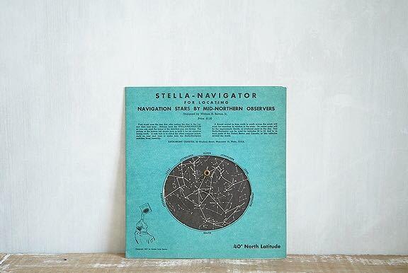 【1957年 古い星座早見盤 天体観測 ビンテージ 紙もの】宇宙 星座 アンティーク ブロカント レトロ 古道具 紙物 オブジェ インテリアに_画像2