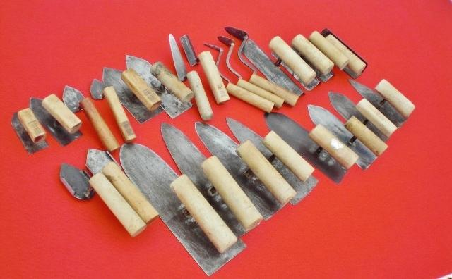 【兎】職人! 鏝 25種 送料お安いです! 左官道具(手打ち 鏝 コテ)