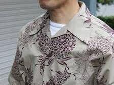 【美品】ANATOMICA アナトミカ HAWAIIAN SHIRT ハワイアン アロハ シャツ Sサイズ taupe_画像6