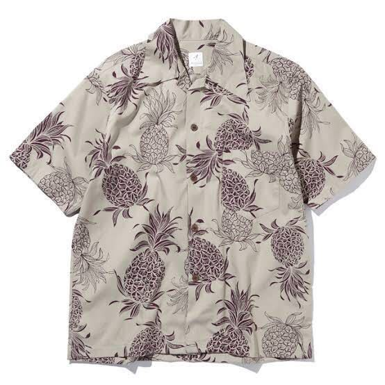 【美品】ANATOMICA アナトミカ HAWAIIAN SHIRT ハワイアン アロハ シャツ Sサイズ taupe_画像7