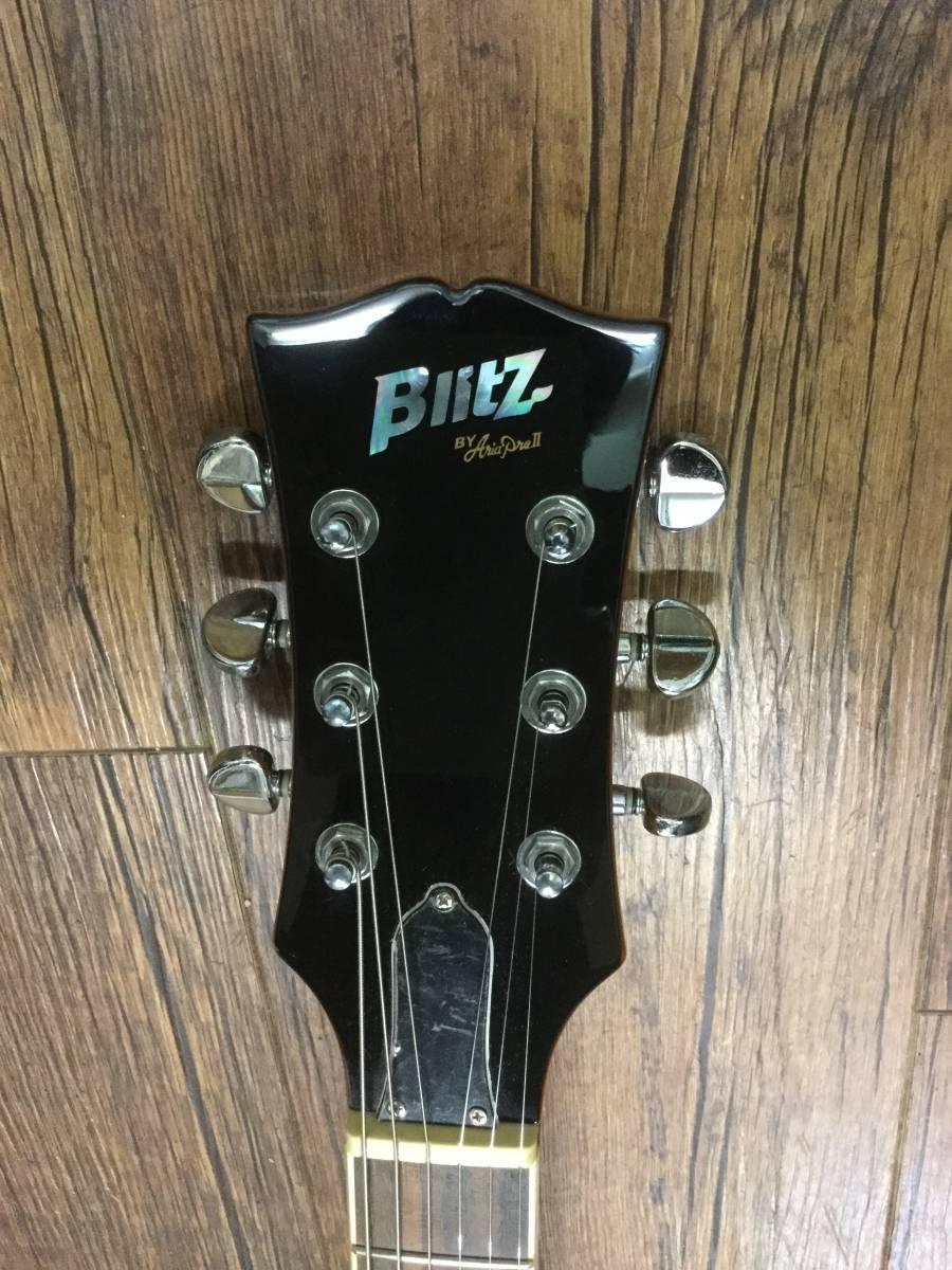 美品 Blitz by Aria Pro II ブリッツ バイ アリア BES-STD BSブラウンサンバースト ES-335モデル/専用ハードケース付/セットネック仕様_画像3