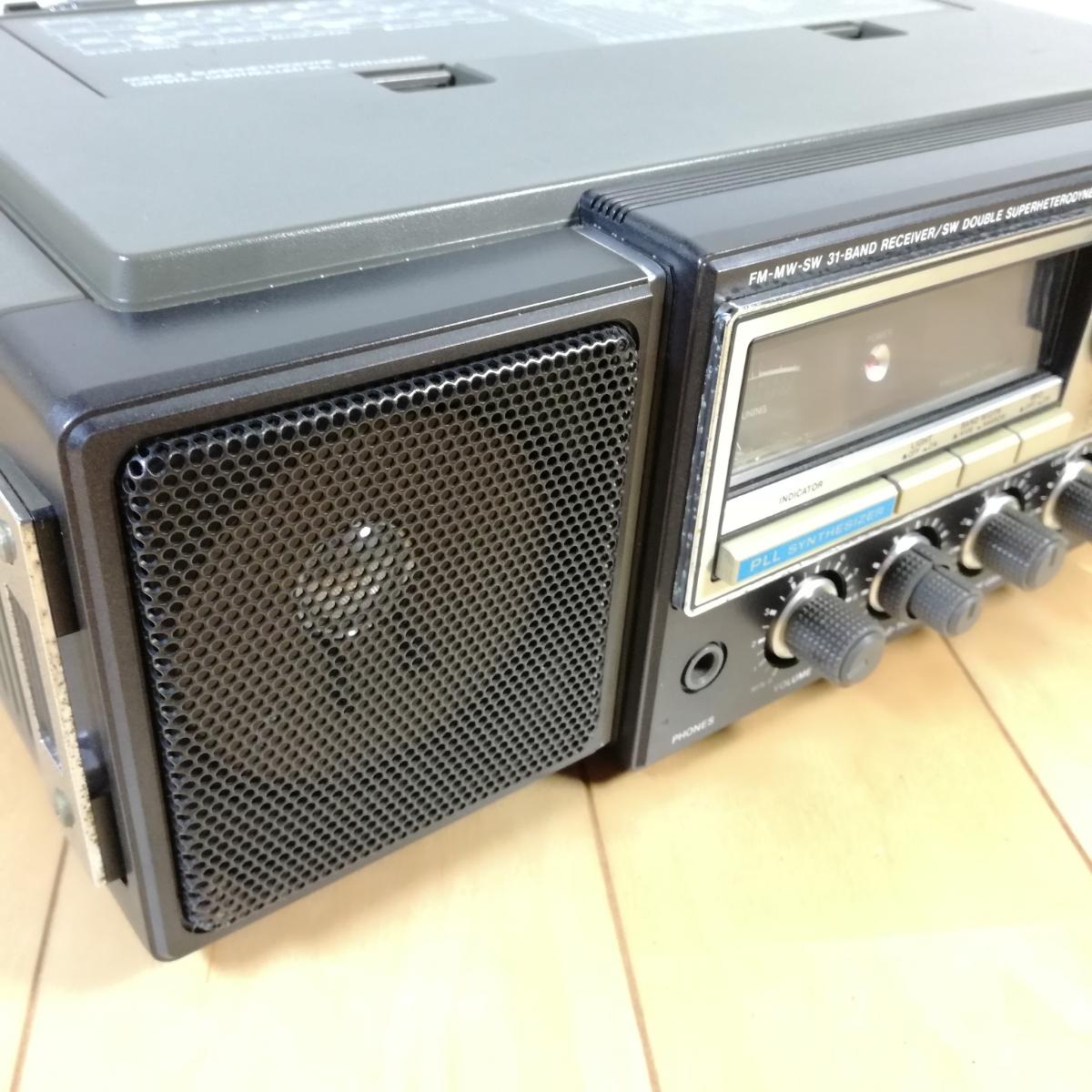 美品!! 動作確認済!! National Panasonic FM-MW-SW 31バンドレシーバー RF-3100 アンティークラジオ _画像3