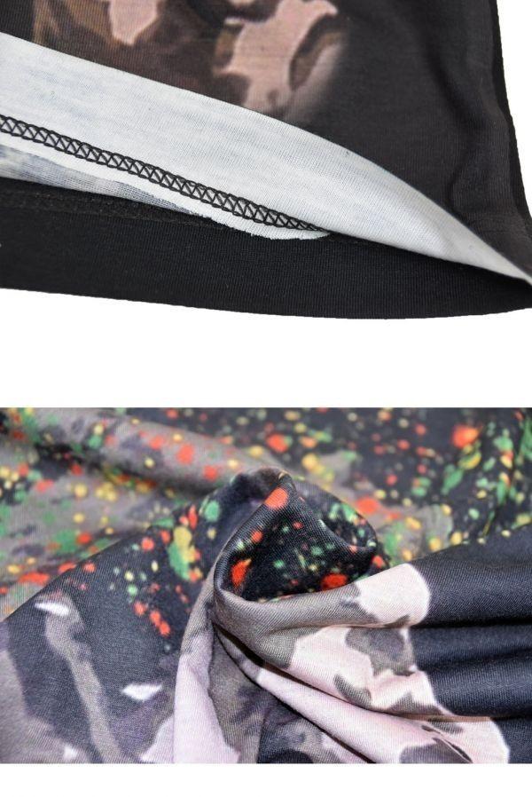 ■メンズ ボブ・マーリー(Bob Marley)レゲエTシャツ Lサイズ 黒/ブラック カラフル プリント 半袖 丸首■T-shirt_画像6